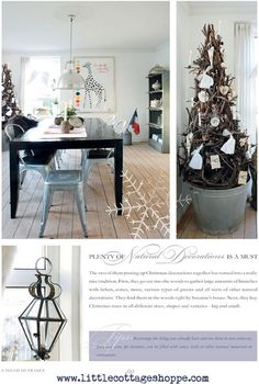 Jeanne d'Arc Living -  A Touch of France  Christmas Book in the French Nordic style.