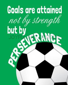 Set of 4 Motivating Sports Quotes PRINTABLE Signs. Football