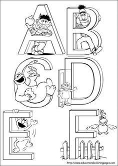 free sesame street printables free printable coloring page