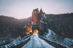 Eltz Castle in the Morning - Shot this photo a shortly before sunrise at Eltz Castle in Germany, while it were -10°C. If you like my work, feel free to follow me on instagram, facebook and for sure, here on 500px! :)