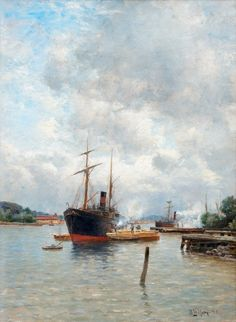 Ships & Seas...   viktor-sbor: Berndt Lindholm (1841-1914)- In the...