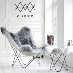 There's nothing quite like watching the world go by in a Cuero classic: The Sheepskin Butterfly Chair.