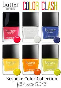 Butter London Fall 2013 USA collection COLOR CLASH #nailpolish
