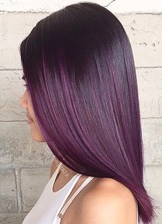 dark purple ombre for black hair