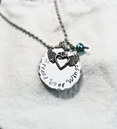 SaLe FREE colored stones add on option! Graduation Gift Personalized Spread Your Wings Necklace~ - pinned by pin4etsy.com