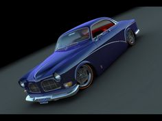 Volvo 1966 122 Coupe looks neat in blue...i want One!