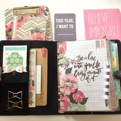 Filofax A5 Original set up inspired by Heidi Swapp//Craft Room Secrets