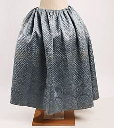 Finely quilted Petticoat 18th century