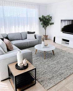 Beautiful Living Rooms, Cozy Living Rooms, Living Room Grey, Home Living Room, Barn Living, Living Room Interior, Living Room Decor Ideas Apartment, Country Living, Black White And Grey Living Room