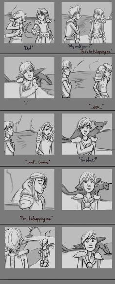 Storyboard - Cove Scene 2.0 by AvannaK.deviantart.com on @deviantART. But Thank god that they added a kiss!