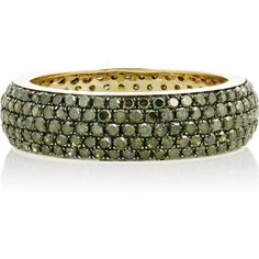 Artisan 14-karat gold diamond ring (10.700 VEF) ❤ liked on Polyvore featuring jewelry, rings, bracelets, accessories, 14 karat gold jewelry, green diamond ring, diamond jewellery, diamond jewelry and pave diamond jewelry