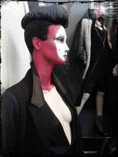 Zara, London, mannequin make-up, pinned by Ton van der Veer