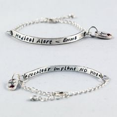 Medical Alert Bracelet and ID Bracelet by MyFineSilverDesigns // $42
