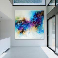 Kunstgalerie-natalie Acryl Bilder Gemälde Alu Schattenfugenrahmen Struktur 90x90