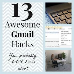 13 Awesome Gmail Hacks You Probably Didn't Know Computer Help, Computer Programming, Computer Tips, Life Hacks Computer, Computer Basics, Simple Life Hacks, Useful Life Hacks, Email Hack, Technology Hacks