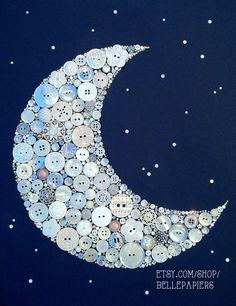 11x14 Gamma Phi Beta Baby Nursery Crescent Moon by BellePapiers, $174.00
