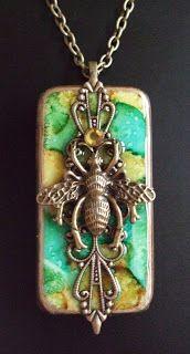 altered domino pendant