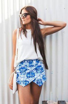 Chic summer outfit | skorts  muraboutique.com.au