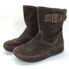 FitFlop Superboot Short Brown Buckle Suede Slip on Ankle Winter Boots Womens 7 | eBay