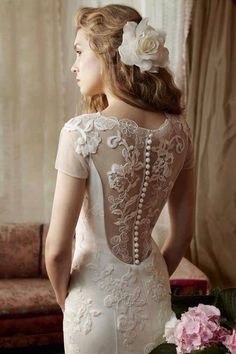 Beautiful lace wedding dress - Find bride supplies at MyBrideGuide.com