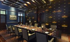The Service 1921 restaurant at Anantara hotel, Chiang Mai, Thailand by Kerry Hill Architects Luxury Restaurant, Restaurant Interior Design, Chinese Restaurant, Thai House, Private Dining Room, Asian Design, Bar Lounge, Chiang Mai, Art Design