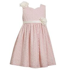 Pink All Over Lace Dress
