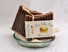 Blueberry Soap Handmade Organic Vegan Soap Hot by SweetSallysSoaps