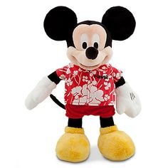 Hawaii Mickey Mouse Plush Toy -- 13'' H