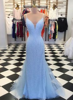 Prom Dress Fitted, Sparkly Sequins Blue Mermaid Long Prom Dress There are delicate lace prom dresses with sleeves, dazzling sequin ball gowns, and opulently beaded mermaid dresses. Blue Mermaid Prom Dress, Tulle Prom Dress, Prom Dresses Blue, Mermaid Dresses, Dance Dresses, Pretty Dresses, Homecoming Dresses, Beautiful Dresses, Party Dress
