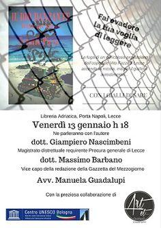 Il prossimo 13 gennaio alle 18 presentazione del giallo Il dio danzante - delitto nel Salento alla Libreria Adriatica di Porta Napoli a Lecce