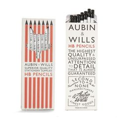 Aubin & Wills pencils