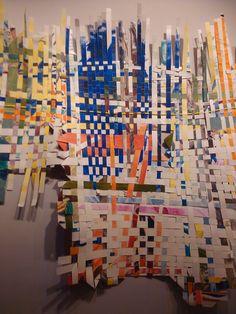 Intertwine, knit, crisscross, zig zag, plait, merge, twist, meander, construct, put together....