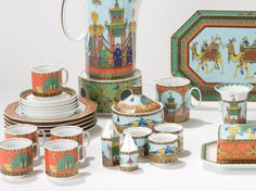 """In 1993, Gianni Versace designed """"Le voyage de Marco Polo"""" dishes for the Rosenthal """"studio line""""."""