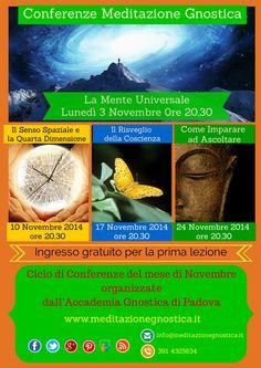 Conferenze Novembre 2014 - Accademia Gnostica Padova