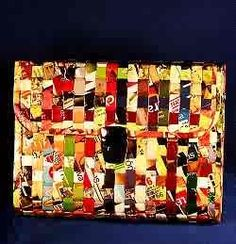The Purse Project: Purses made from candy wrappers, etc