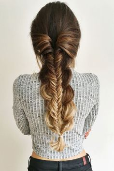 Thick voluminous stacked braid created with Ombre Blonde Luxy Hair Extensions! Love this quick and easy everyday braid Ombre Hair, Hair Blond, Blonde Ombre, Blonde Balayage, Brown Hair, Easy Summer Hairstyles, Pretty Hairstyles, Braided Hairstyles, Daily Hairstyles