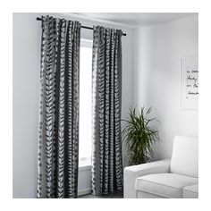 "GUNNI Block-out curtains, 1 pair  - IKEA - $49.99 Article Number: 602.947.64 Product dimensions  Length: 98 "" Width: 57 "" Weight: 4 lb 10 oz Area: 39.07 sq feet Package quantity: 2 pack"