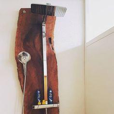 Combining wood and metal is always cool.  Thanks to Jochen Schmidt for this picture.   #hansgrohe #water #bath #bathroom #meetthebeautyofwater #beautyofwater #wood #wooden #shower #showering #design #interior  #homedecor #interiordesign #designinspo #homes #homesofinsta
