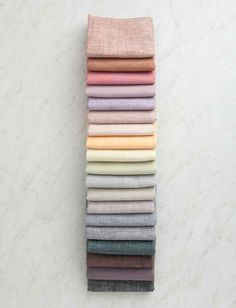 Watercolor Linen Fat Quarter Bundle, 19 Fat Quarters --Everything from Purl Soho is inspiration-- Fat Quarters, Fabric Photography, Purl Bee, Purl Soho, Mode Hijab, Love Sewing, Textiles, Fabric Scraps, Linen Fabric