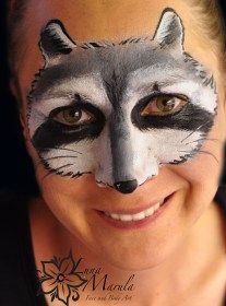 raccoon face paint - Google Search