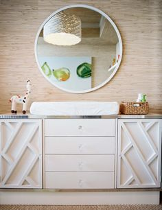 Im obsessed with this changing table/dresser!!!!!! Why must it be so expensive:(   Pieces Inc - Modern nursery design with white modern changing table dresser, cushion, ...