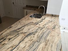Prada gold granite worktop in West Kirby Aga Kitchen, Paris Kitchen, Granite Kitchen, Kitchen Ideas, Granite Worktops, Kitchen Worktops, Work Tops, Prada, Architecture