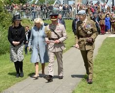 Charles and Camilla in Normandy June 5, 2014