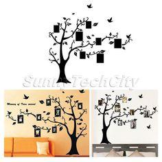 Tree Leaf Photo Frame Art Mural Wall Sticker Decal Home Livingroom Vinyl Décor