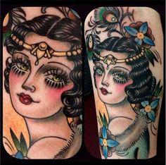 Flapper tattoo by Rose Hardy Head Tattoos, Side Tattoos, I Tattoo, Cool Tattoos, Awesome Tattoos, Flapper Tattoo, Rose Hardy, Balance Tattoo, Best Friend Tattoos