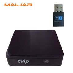 2pcs New mini iptv box TVIP v.410 including usb wifi  with linux or android dual system free shipping and popular selling