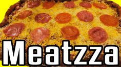 """Meatzza - Epic Meal Time The answer to your cauliflower crust """"pizza"""""""