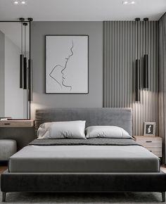 Modern Luxury Bedroom, Master Bedroom Interior, Luxury Bedroom Design, Luxurious Bedrooms, Home Bedroom, Home Interior Design, Small Modern Bedroom, Contemporary Bedroom, Hotel Room Design