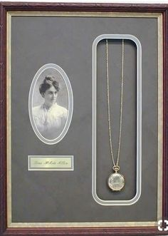 Wendy Davis Custom Framing - Online Picture Frame Store,Have a family heirloom custom framed, along with a photo of the family member who first introduced the piece to the family - brilliant! Frames are dec. Old Jewelry, Jewelry Making, Enamel Jewelry, Jewelry Art, Antique Jewelry, Silver Jewelry, Cuadros Diy, Diy Foto, Memory Crafts