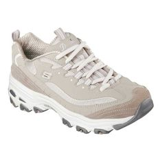 Skechers USA Outlet Store Sale Skechers D'Lites Sneaker Me Time/Taupe Women Shoes Comfort - Skechers D'Lites Sneaker Me Time/Taupe Women Shoes Comfort A classic look gets updated with comfort in the SKECHERS D'Lites Sneaker. This sneaker Casual Sneakers, Sneakers Fashion, Fashion Shoes, Women's Sneakers, Ladies Sneakers, Sneakers Design, Sneakers Style, Fashion Scarves, Ladies Shoes